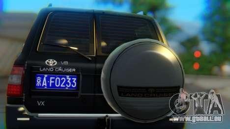 Toyota Land Cruiser 105 für GTA San Andreas Innenansicht