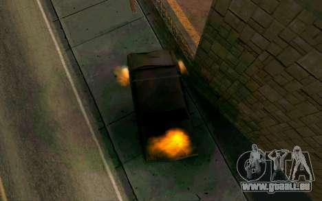 Burning car mod from GTA 4 für GTA San Andreas dritten Screenshot