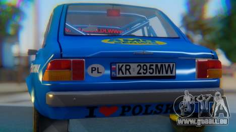 Zastava 1100P Rally für GTA San Andreas Innenansicht