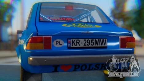 Zastava 1100P Rally pour GTA San Andreas vue intérieure