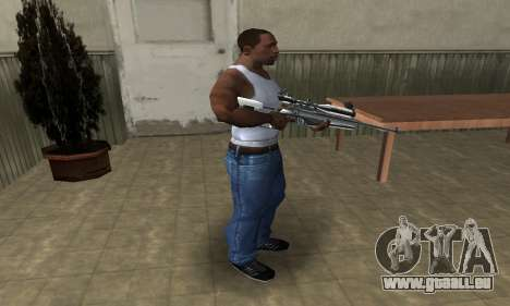 Full Silver Sniper Rifle für GTA San Andreas dritten Screenshot