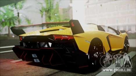 Lamborghini Veneno LP700-4 AVSM Roadster Version für GTA San Andreas zurück linke Ansicht