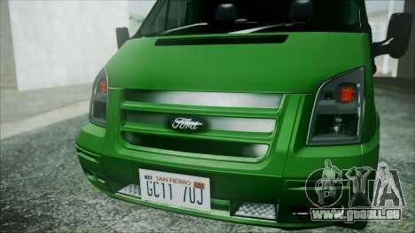 Ford Transit SSV 2011 pour GTA San Andreas vue de droite