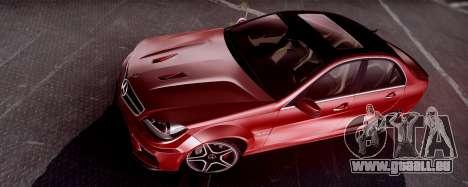 Mercedes-Benz C63 AMG 2013 für GTA San Andreas linke Ansicht