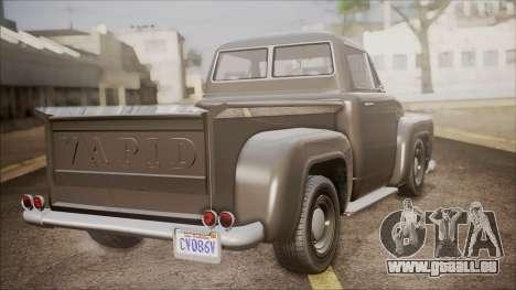 GTA 5 Vapid Slamvan Pickup pour GTA San Andreas laissé vue