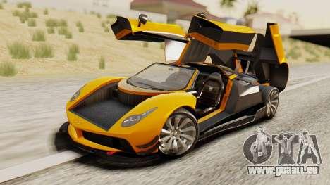 Pegassi Osyra Full Extras pour GTA San Andreas vue intérieure