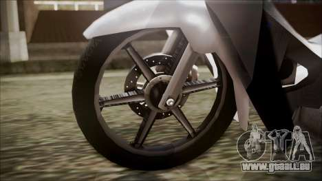 Honda Biz 125 für GTA San Andreas zurück linke Ansicht
