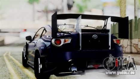 Toyota GT86 pour GTA San Andreas laissé vue