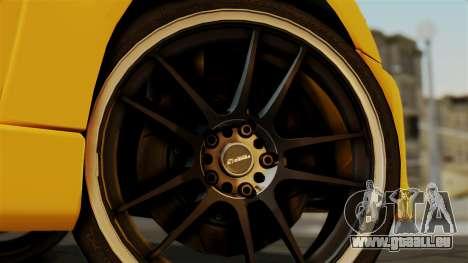 Mitsubishi Lancer Evolution 2015 pour GTA San Andreas sur la vue arrière gauche