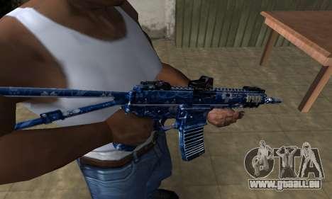 Blue Life M4 für GTA San Andreas