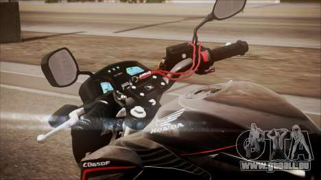 Honda CB650F Pretona für GTA San Andreas Rückansicht