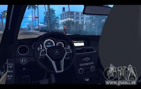 Mercedes-Benz C63 AMG 2013 für GTA San Andreas Innen