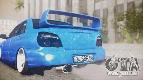 Subaru Impreza WRX STI B. O. Construction für GTA San Andreas Rückansicht