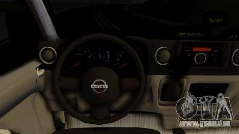 Nissan NV350 Urvan Leonardo pour GTA San Andreas vue de droite