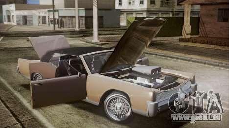 GTA 5 Vapid Chino IVF für GTA San Andreas Innenansicht
