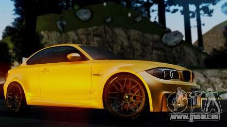 BMW 1M E82 v2 pour GTA San Andreas vue de côté