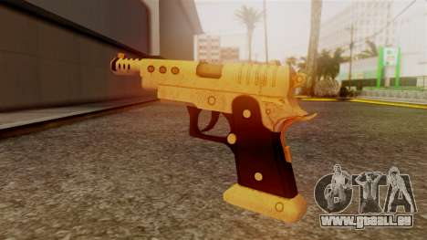 Chrome Hammer Pistol für GTA San Andreas zweiten Screenshot