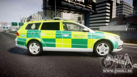 Volkswagen Passat B7 North West Ambulance [ELS] für GTA 4 linke Ansicht