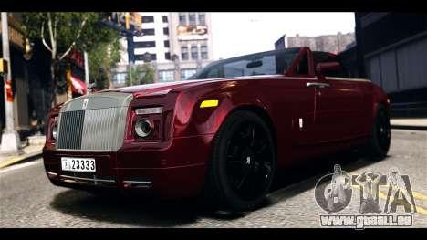 Rolls-Royce Phantom 2009 Coupe v1.0 pour GTA 4 est une gauche
