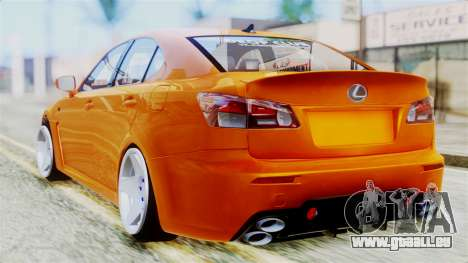 Lexus IS F für GTA San Andreas linke Ansicht