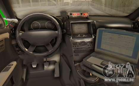 Ford Taurus Iraq Police für GTA San Andreas zurück linke Ansicht