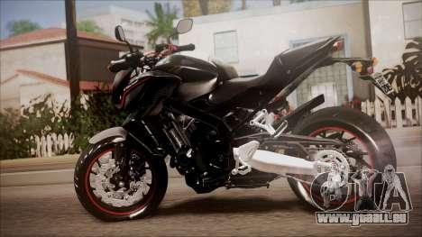 Honda CB650F Pretona pour GTA San Andreas laissé vue