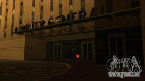 HP micros près des hôpitaux dans l'état pour GTA San Andreas deuxième écran