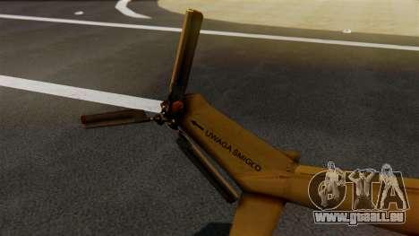 PZL W-3PL Grouse pour GTA San Andreas sur la vue arrière gauche