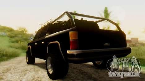 FBI Rancher Offroad pour GTA San Andreas laissé vue