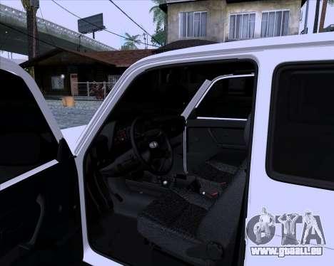 VAZ 2121 Niva 4x4 pour GTA San Andreas vue arrière