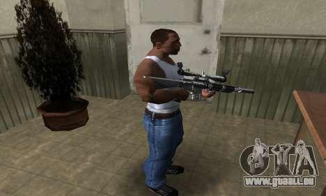 Full Silver Sniper Rifle für GTA San Andreas dritten Screenshot