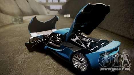 Hennessey Venom GT 2012 U.S.A American pour GTA San Andreas vue arrière