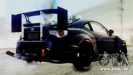 Toyota GT86 pour GTA San Andreas vue de droite