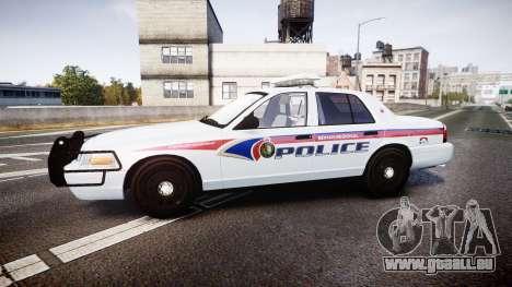 Ford Crown Victoria Bohan Police [ELS] pour GTA 4 est une gauche