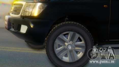 Toyota Land Cruiser 105 pour GTA San Andreas sur la vue arrière gauche