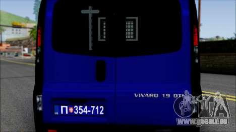 Opel Vivaro Policija pour GTA San Andreas vue intérieure