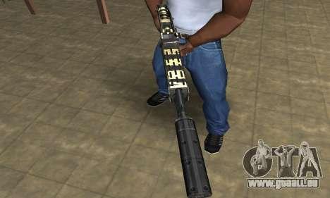 Gold Lines Combat Shotgun für GTA San Andreas zweiten Screenshot