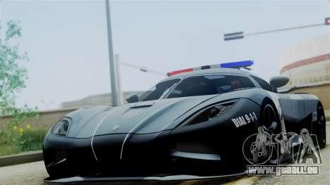 NFS Rivals Koenigsegg Agera R v3.0 für GTA San Andreas zurück linke Ansicht