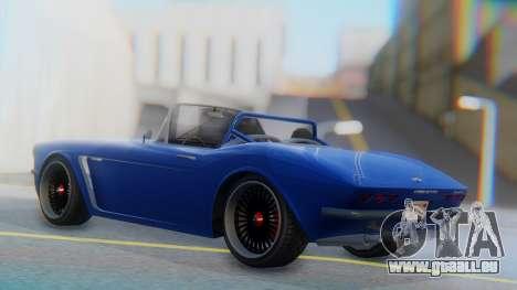 Invetero Coquette BlackFin Convertible für GTA San Andreas linke Ansicht