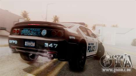 Hunter Citizen from Burnout Paradise Police SF für GTA San Andreas linke Ansicht
