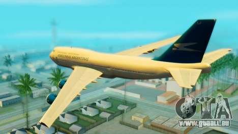 Boeing 747 Argentina Airlines pour GTA San Andreas laissé vue