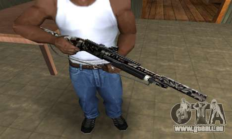 Black Flowers Shotgun pour GTA San Andreas