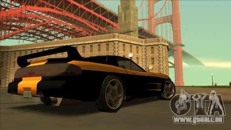 ZR-350 Road King pour GTA San Andreas vue intérieure