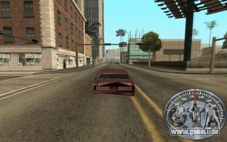 De fer de l'indicateur de vitesse pour GTA San Andreas troisième écran