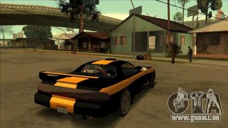 ZR-350 Road King pour GTA San Andreas sur la vue arrière gauche