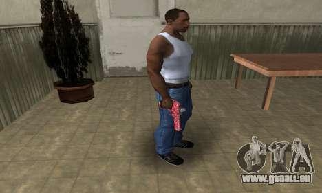 Red Chest Deagle pour GTA San Andreas troisième écran