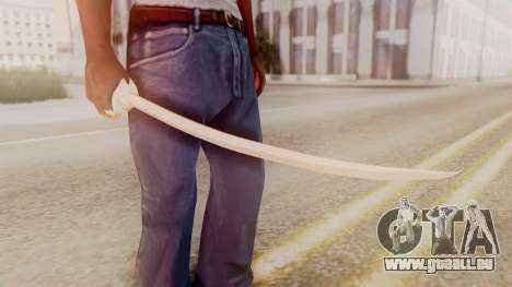 Red Dead Redemption Katana Crome Sword für GTA San Andreas zweiten Screenshot