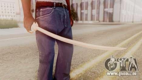 Red Dead Redemption Katana Crome Sword pour GTA San Andreas deuxième écran