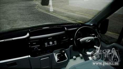 Ford Transit SSV 2011 pour GTA San Andreas sur la vue arrière gauche