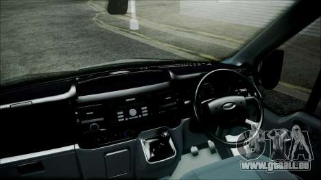 Ford Transit SSV 2011 für GTA San Andreas zurück linke Ansicht